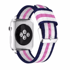 For Apple Watch 38mm 42mm Canvas Watch Band