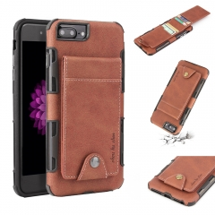For iPhone Car Holder Leather Mobile Phone Case With Car Slot