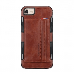 For iPhone Leather Phone Case With Card Slot