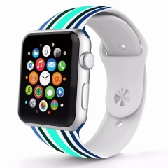 For Apple Watch 38mm 42mm Colorful Silicone Wartch Band