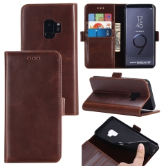 For Samsung Double Folding Mobile Phone Case Leather Case With Car Slot