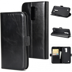 For LG Double Folding Mobile Phone Case Leather Case With Car Slot