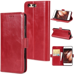 For Huawei Double Folding Mobile Phone Case Leather Case With Car Slot