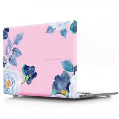 For Macbook Flowers Hard Plastic Cover Case
