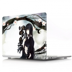 For Macbook Cartoon Flowers Laptop Hard Plastic Cover Case