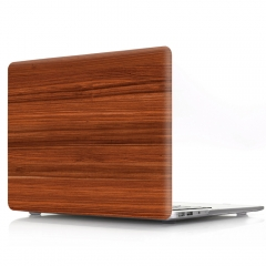 For Macbook Wood Grain Flower Series Laptop Cover Case