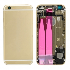 For iPhone 6 Back Housing Cover With Side Buttons & Card Tray Full Assembly - Gold