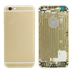 For iPhone 6 Back Housing Cover With Side Buttons & Card Tray - Gold