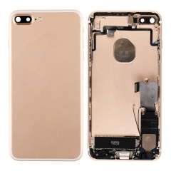 For iPhone 7 Plus Back Housing Cover With Side Buttons & Card Tray Full Assembly - Gold