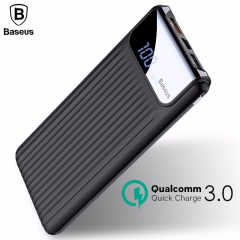 Baseus 10000mAh Quick Charge 3.0 Dual USB Power Bank With LCD Display
