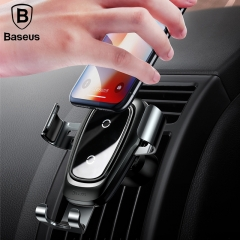 Baseus 10W Qi Fast Wireless Charger Gravity Car Mount