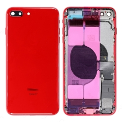 For iPhone 8 Plus Back Housing Cover With Side Buttons & Card Tray Full Assembly - Red