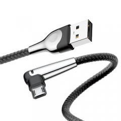 Baseus 90 Degree Micro USB Game Cable Reversible Charging With Led Light