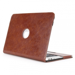 Macbook Case PU Leather Case Bag With Hand Strap