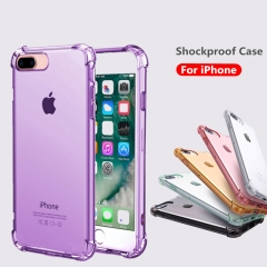 For iPhone Anti Knock Clear Soft TPU Case Drop Protection Cell Phone Case