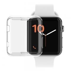 For Apple Watch 38mm 42mm Case TPU Screen Protector All-around Protective Ultra-thin Cover