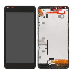 For Nokia 640 LCD Screen Display Touch Digitizer Assembly With Frame Black