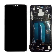 For OnePlus 6 A6000 A6003 LCD Display Touch Screen Digitizer Assembly With Frame Black