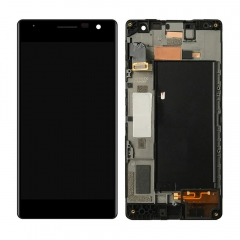 For Nokia Lumia 730 735 LCD Display Touch Screen Digitizer Assembly With Frame Black