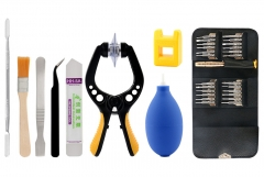 33 in 1 Smartphone Screen Opening Pliers Cleaner Tweezers Screwdriver Pry Disassemble Tool Set
