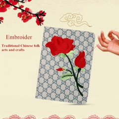 For iPad Mini Air Plastic Case Tablet Flower Chinese Embroidery Case Cover