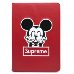 For iPad Mini Air Plastic Flip Case Tablet Cartoon Embroidery Case Cover