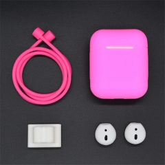 For Apple Airpods Earphone Protector Set Portable Silicone Strap Cover Case For AirPods