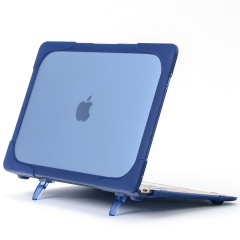 For Macbook Plastic Case Cover With Holder Silicone Case