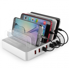 96W USB Charger Multi USB Charging Station Dock 8 Port