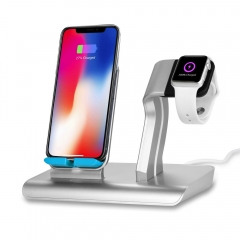 Wireless Charger Base For iPhone Apple Watch Qi Charger Stand Holder