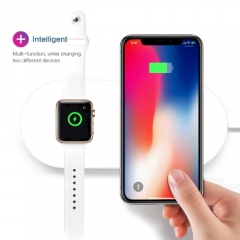 Airpower For iWatch iPhone Samsung Qi Wireless Charger Quick Fast Charging Pad