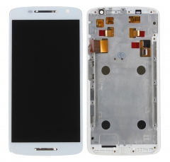 For Moto X Play XT1562 XT1563 LCD Display Touch Screen Assembly With Frame White