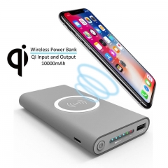 10000mAh Universal Portable Power Bank Qi Wireless Charger