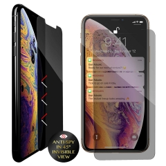 For iPhone Xs Xr Xs Max Privacy Tempered Glass Anti-Spy Screen Protector With Packing
