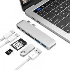 7 in 1 USB-C Hub Adapter to HDMI USB 3.0 SD and Micro SDTF Card Read