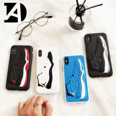 For iPhone 6-X New 3D Jordan air AJ Basketball Shoes Pattern Soft TPU Cover Case