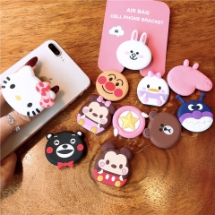 Universal POP Holder Mobile Phone Stretch Bracket Cartoon Stitch Air Bag Phone Expanding Phone Stand Finger Car Holder