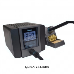 QUICK Soldering Station Original ESD LED Display Hot Air Rework Desoldering Station Lead Free For IC Chip Repair