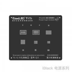 New Universal Square Hole Power Logic Black Reball Stencil For iPhone 8 7 6s 6 5 s