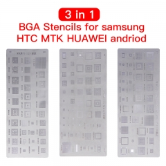 3PCS/Set Universal BGA Stencils For MTK Samsung HTC Huawei Android Directly Heated BGA Reballing Stencils Kit