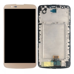 For LG K10 K410 K420N K430 K430DS MS428 LCD Touch Screen Digitizer With Frame Assembly Gold