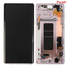 For Samsung Galaxy Note 9 N960F LCD Display Touch Screen Digitizer Assembly With Frame Purple