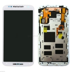 For Motorola Moto X 2nd Gen XT1093 XT1094 LCD Touch Screen Digitizer With Frame Assembly White