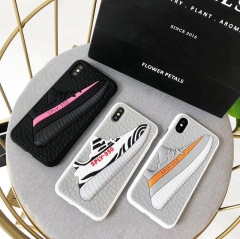For iPhone Plastic Silicone 3D Case Boost Shoes Yeezys Case