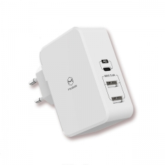 USB PD 29W Quick Charger Type C USB-C Fast Charging Dual USB Charger