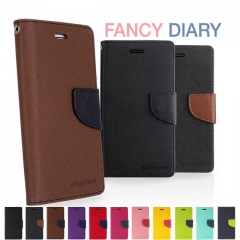 For Huawei Fancy Diary Card Pocket Flip PU Leather Wallet Case Cover