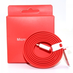 For OnePlus Original Charger Cable 100cm Red Noodles Micro USB Date Line