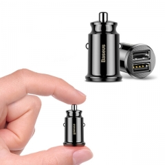 3.1A Mini Fast Charger Dual USB Car Phone Charger Adapter