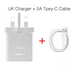 For Huawei Original Super Charger Travel Quick Fast Charger QC 3.0 5A UK Plug With Type C USB Cable