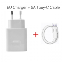 For Huawei Original Super Charger Travel Quick Fast Charger QC 3.0 5A EU Plug With Type C USB Cable